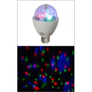Ibiza Light Astro-Mini - Ampoule effet boule à facettes 3 LED RVB
