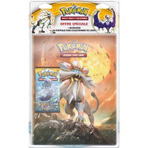 Asmodée Pack cahier range cartes + Booster Pokémon SL01 Lune et Soleil