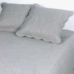 vent du sud couvre lit boutis coton byzance 180x250cm perle 100 - Dessus De Lit 1 Personne