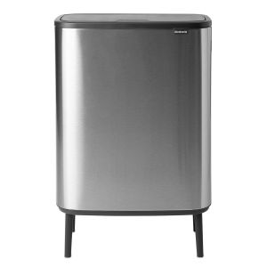 Brabantia 130649 - Poubelle Bo Touch Bin Hi, 2x30L, Matt Steel Fingerprint Proof