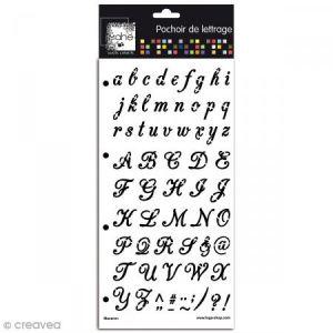 Toga Pochoir - Alphabet - Macaron - 15 x 30 cm
