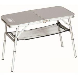 Coleman Petite table Rectangulaire de Camping Mini Camp Table avec filet de rangement - 2 Personnes