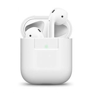 Elago Étui Compatible avec Apple AirPods 1 & 2 (Témoin LED Visible) en Silicone Non-Toxique Anti-Rayures Plus de Protection [AirPods et Boîtier Non Inclus] - Blanc (, neuf)