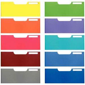 Exacompta 338999D - MODULO/MODULODOC set de 10 frontons A4, haut. 110 mm, coloris assortis