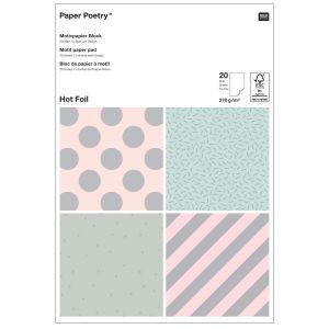 Rico Design Bloc de papier à motif - Holographique