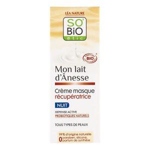 So'Bio Étic Mon lait d'Ânesse - Crème masque récupératrice nuit