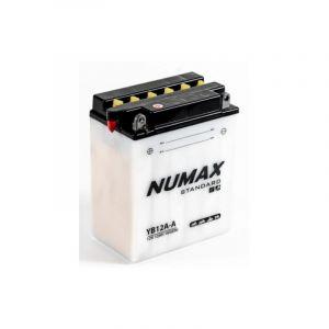 Numax Batterie moto Standard avec pack acide YB12A-A 12V 12Ah 150A