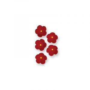 PME Fleurs décoratives rouges 20 mm (x30)