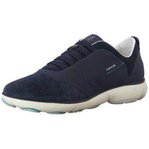 Geox Nebula C, Sneakers Basses Femme - Bleu (Blue C4002) - 35 EU