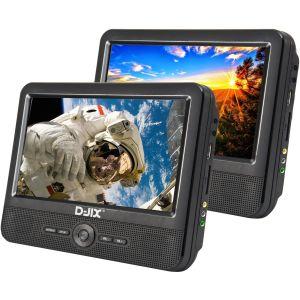 """D-jix PVS 906-70DP - Lecteur DVD portable double écran 9"""""""