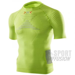 X-Bionic Running man adulte imperméable effecteurs oW shirt power sH sL L Multicolore - Green Lime/Pearl Grey