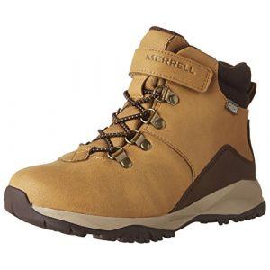 Merrell ML-b Alpine Casual Boot Waterproof, Chaussures de Randonnée Hautes - Garçon - Orange (Wheat) - 31 EU (12 UK)