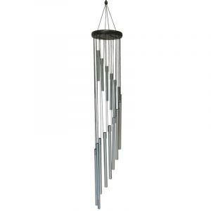Sud trading Carillon déco en métal Spirale - H. 94 cm - Noir