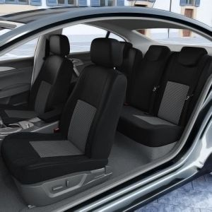 DBS 1012070 Housse de siège Auto / Voiture - Sur Mesure - Finition Haut de Gamme - Montage Rapide - Compatible Airbag - Isofix