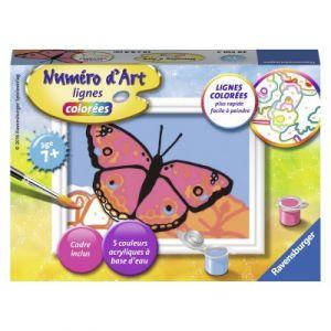 Ravensburger Beau papillon - Peinture au numéro Numéro d'Art lignes colorées