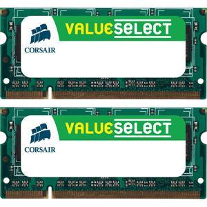 Image de Corsair CMSO8GX3M2A1333C9 - Barrettes mémoire Value Select 2 x 4 Go DDR3 1333 MHz CL9 204 broches