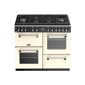 Stoves COLOUR BOUTIQUE RICHMOND DELUXE 100cm GAZ SUR VERRE CREME - PRICHGL100DFCH