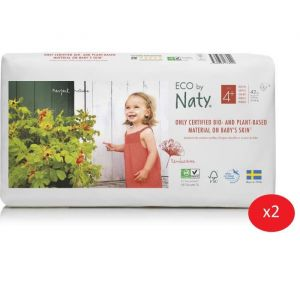 Eco by Naty Lot de 2 paquets de couches Taille 4+ Maxi+ 9-20 kg 42 pcs