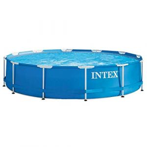 Intex Metal Frame Piscine démontable sans épurateur 366 x 76 cm Bleu