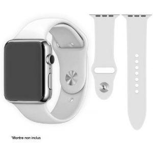 Ibroz Bracelet Apple Watch SoftTouch 44mm blanc