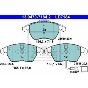 ATE 13047071842 Plaquettes de freins de stationnement en céramique