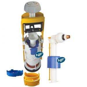 Regiplast Mécanisme universel MECADOR double débit + robinet flotteur 63500