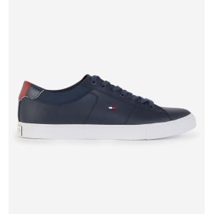 Tommy Hilfiger ESSENTIAL LEATHER COLLAR VULC - Baskets Homme, Noir