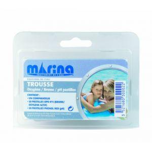 Marina Trousse d'analyse Brome / Oxygène actif / pH + recharge pastilles