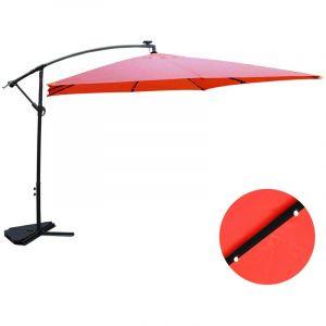 Concept-Usine Solenzara Bulle terracotta : parasol LED déporté 3x3m