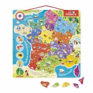 Jura Nouvelles Régions - Puzzle France magnétique 93 pièces en bois