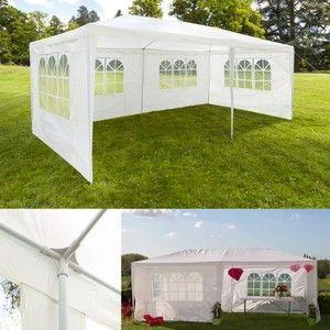 ProBache Chapiteau 3x6 m - Tente tonnelle de réception blanche avec 4 cotés