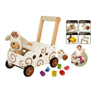 I'm Toy Pousseur porteur en bois Mouton