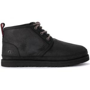 UGG australia Boots UGG Bottes UGG modèle Neumel en cuir pleine fleur noir Noir - Taille 42,45