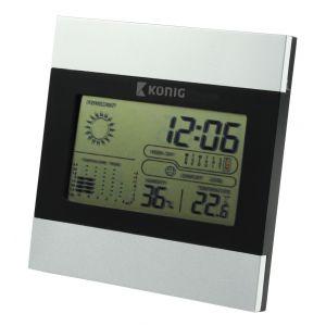 König KN-WS102N - Horloge et station météo LCD
