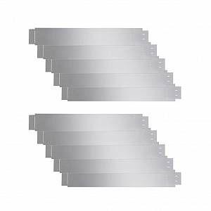 VidaXL Set de 10 Clôtures de pelouse flexibles en acier galvanisé