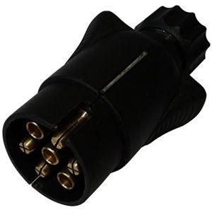 Aerzetix : Fiche mâle 7pin prise connecteur de remorque 7 broches 12V 7mm C12383 attelage faisceau câble câblage feux arrières stop