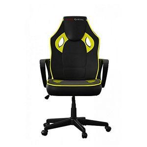 Tacens Chaise de jeu MGC0BY Metal PVC Noir Jaune