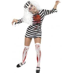 Déguisement zombie prisonnière Halloween (taille S)