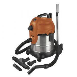 EUROM Aspirateur eau et poussières 20L prise synchronisée et décolmatage - 230 V 1400 W - Force 1420S wet-dry - 161328