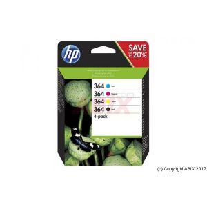 Pack cartouche HP N9J73AE n°364 - Noir + 3 couleurs