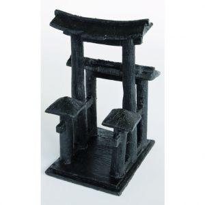 Image de Décoration zen temple noir L 15,5 x l 10,5 x h 9 cm