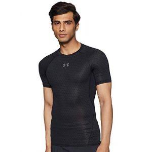 Under Armour T-shirt Tee-shirt Compression HeatGear Armour Imprimé Noir - Taille EU S