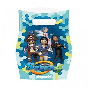 Amscan 8 sacs de fête Playmobil Super 4