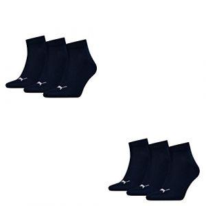 Puma 6 pair Sneaker Quarter Socks Unisex Mens & Ladies In 3 Colours, Farben:321 - navy, Socken & Strümpfe:47-49