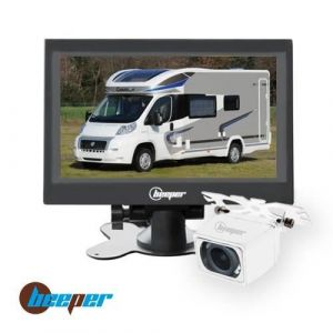 Beeper Caméra De Recul Écran 7 Cam Blanche Rw7-B