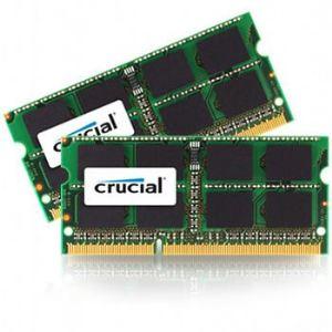 Crucial CT2C4G3S160BMCEU - Barrettes mémoire 2 x 4 Go DDR3 1600 MHz SoDimm 204 broches pour Mac
