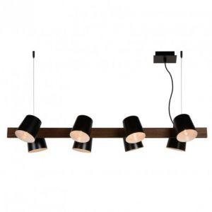 Lucide Suspension à huit lampes Octo en noir