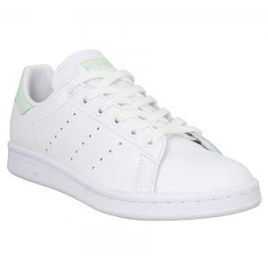 Adidas Stan Smith cuir viperine Femme-41 1/3-Blanc Vert