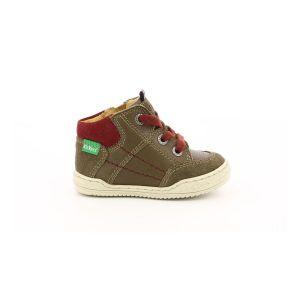 Kickers Jad, Sneakers Haute Garçon, Kaki, 18