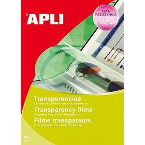 APLI Film transparent Agipa - pour imprimante laser, jet d'encre et photocopieur - boite de 50